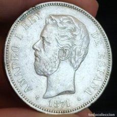 Monedas de España: AMADEO I 5 PESETAS 1871 18*71. Lote 199705933