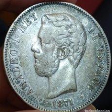 Monedas de España: AMADEO I 5 PESETAS 1871 18*74 (MBC). Lote 199706740
