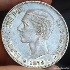 Monedas de España: ALFONSO XII 5 PESETAS 1878 18*78 DEM. Lote 199711880