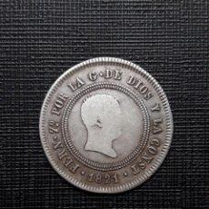 Monedas de España: FERNANDO VII 10 REALES PLATA RESELLADOS 1821 MADRID SR BC+. Lote 199713306