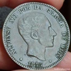 Monedas de España: 10 CÉNTIMOS 1877 ALFONSO XII.MBC. Lote 199811117
