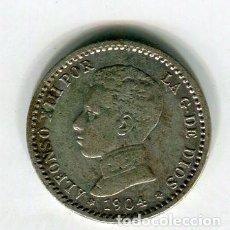Monete da Spagna: 50 (CINCUENTA) CENTIMOS ALFONSO XIII 1904 *0 *4. Lote 199875773