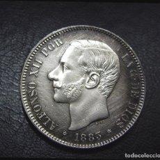 Monedas de España: 5 PESETAS ALFONSO XII 1883 *18 - 83 M.S.M. - EBC+ - ARAÑAZOS SUPERFICIALES DE MALA LIMPIEZA. Lote 200381967