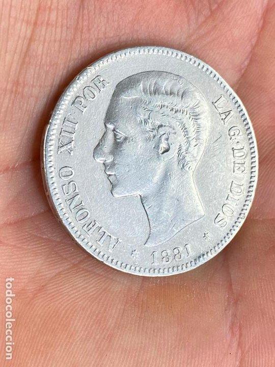Monedas de España: Moneda de 5 pesetas de plata 1881 *81 alfonso XII - ver fotos - Foto 2 - 200749912