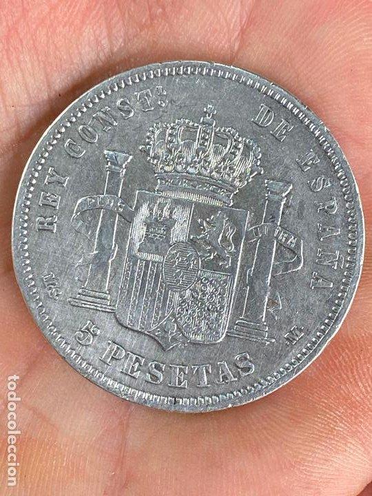 Monedas de España: Moneda de 5 pesetas de plata 1881 *81 alfonso XII - ver fotos - Foto 4 - 200749912