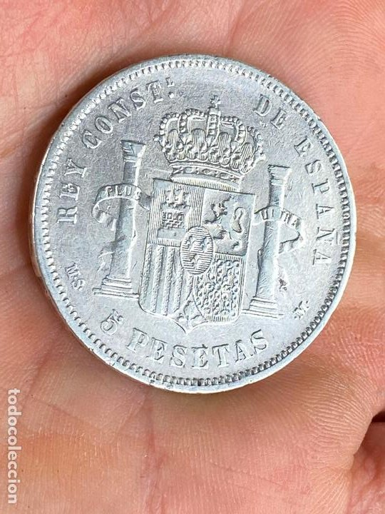 Monedas de España: Moneda de 5 pesetas de plata 1881 *81 alfonso XII - ver fotos - Foto 5 - 200749912