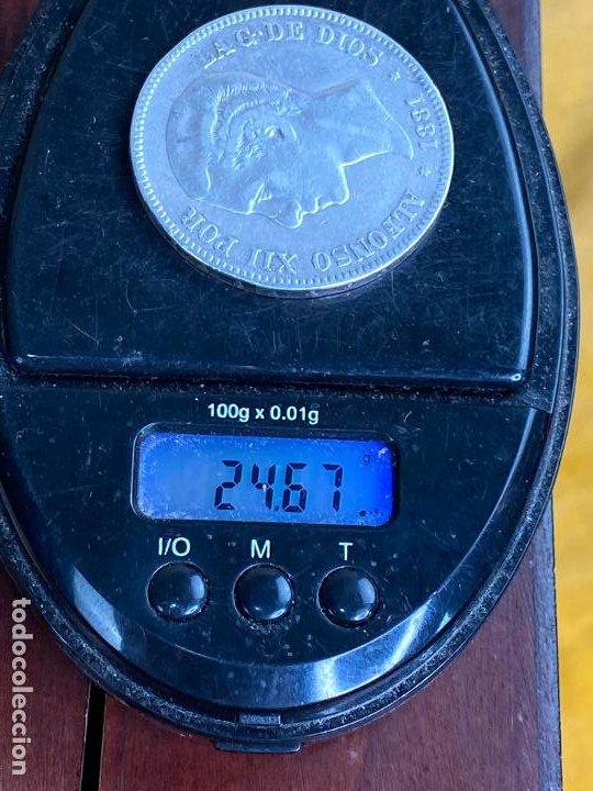 Monedas de España: Moneda de 5 pesetas de plata 1881 *81 alfonso XII - ver fotos - Foto 6 - 200749912