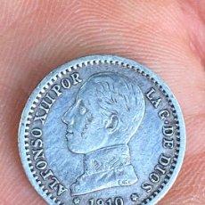 Monete da Spagna: MONEDAS DE PLATA 50 CENTIMOS 1910 ALFONSO XIII. Lote 200754328