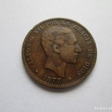 Monete da Spagna: ALFONSO XII * 10 CENTIMOS 1877 OM BARCELONA. Lote 201499078