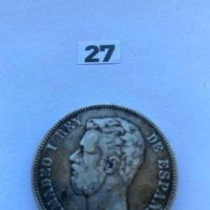 Monete da Spagna: DURO DE PLATA, MONEDA DE CINCO PESETAS. Lote 201657818