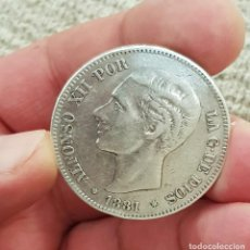 Monedas de España: ALFONSO XII 5 PESETAS 1881 ESTRELLAS 18-81 MS M REFE 3065 EBC. Lote 200763026