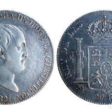 Münzen von Spanien: MONEDA 20 REALES DE FERNANDO VII 1821 MADRID ( LA MAS RARA DE LA SERIE ) . Lote 201671977