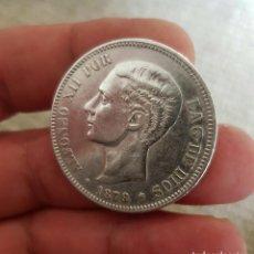 Monedas de España: ALFONSO XII 5 PESETAS 1879 ESTRELLAS 18-79 EM M REFE 3079. Lote 200762603