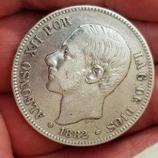 Monedas de España: ALFONSO XII 5 PESETAS 1882 ESTRELLAS 18-81 MS M VARIANTE REFE 3067. Lote 200763148