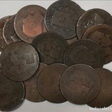 Monedas de España: 10 CÉNTIMOS. AE. LOTE DE 17 MONEDAS. GOBIERNO PROVISIONAL Y ALFONSO XII. Lote 201835188