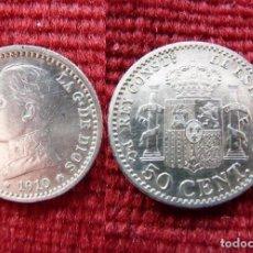 Monete da Spagna: 50 CÉNTIMOS. ALFONSO XIII. 1910. Lote 202318915