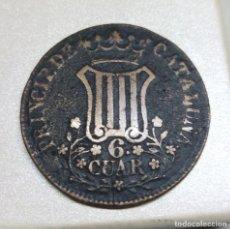 Monedas de España: MONEDA DE COBRE - 6 CUARTOS DE ISABEL II, PRINCIPADO DE CATALUÑA (1837). Lote 203031587