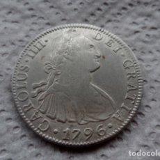 Monedas de España: 8 REALES CARLOS IV AÑO 1796 MEXICO PLATA.. Lote 203046663