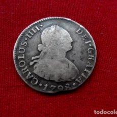 Monedas de España: 2 REALES CARLOS IV AÑO 1798 LIMA PLATA.. Lote 203094997