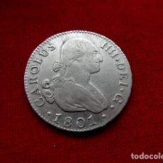 Monedas de España: 2 REALES CARLOS IV AÑO 1801 SEVILLA PLATA.. Lote 203096283