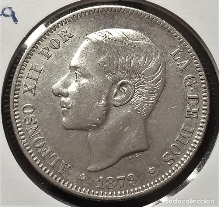 1879 *79 ESPAÑA - 2 PESETAS - ALFONSO XII - EMM - EBC- PLATA (Numismática - España Modernas y Contemporáneas - De Isabel II (1.834) a Alfonso XIII (1.931))