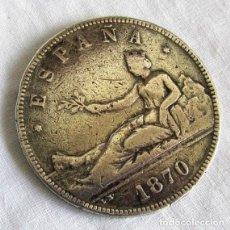 Monete da Spagna: MONEDA DE PLATA 5 PESETAS 1870. Lote 203369911
