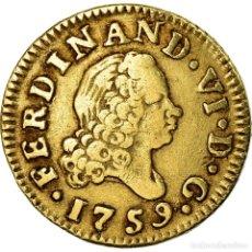 Münzen von Spanien: MONEDA, ESPAÑA, FERDINAND VI, 1/2 ESCUDO, 1759, MADRID, BC+, ORO, KM:378. Lote 203409523