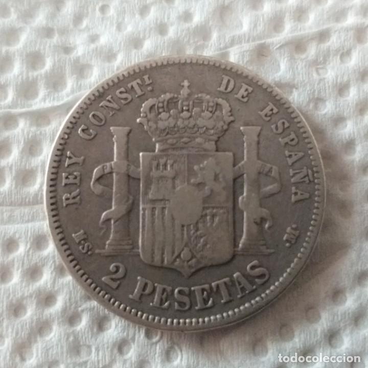 Monedas de España: MONARQUÍA ESPAÑOLA MONEDA DE ALFONSO XII AÑO 1882 1 ESTRELLA VISIBLE * 82 * - Foto 2 - 204153737
