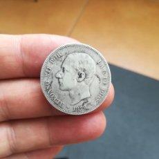 Monedas de España: MONEDA DE 2 PESETAS DE ALFONSO XII DEL AÑO 1879.DE PLATA.ESTRELLAS VISIBLES!. Lote 158439654