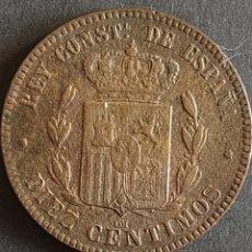 Moedas de Espanha: 10 CENTIMOS 1879. Lote 204319918