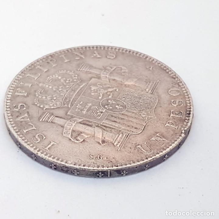 Monedas de España: España 1 peso islas filipinas año 1897 Original - Foto 6 - 204347926