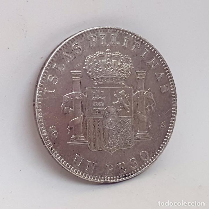 Monedas de España: España 1 peso islas filipinas año 1897 Original - Foto 3 - 204347926