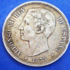 Monedas de España: DURO DE PLATA ALFONSO XII 1875 ORIGINAL GARANTIZADO. Lote 204408280