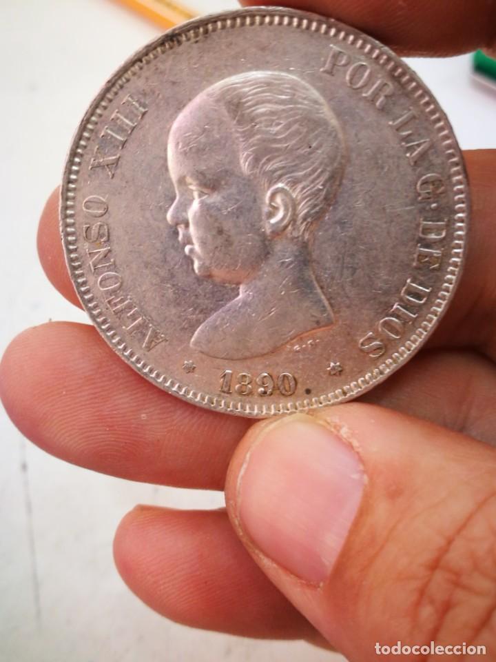 DURO DE PLATA ALFONSO XIII 1890 MUY BONITO ORIGINAL GARANTIZADO (Numismática - España Modernas y Contemporáneas - De Isabel II (1.834) a Alfonso XIII (1.931))