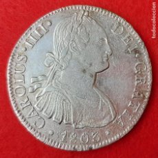 Monedas de España: MONEDA PLATA CARLOS IIII IV 8 REALES 1803 MEXICO MBC+ ORIGINAL B34. Lote 204429583