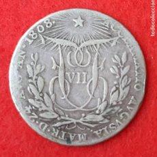 Monedas de España: MONEDA MEDALLA PLATA FERNANDO VII 2 REALES 1808 ACLAMACION MBC ORIGINAL B34. Lote 204430808