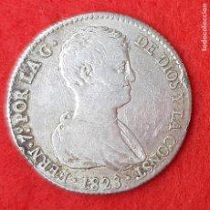 Monedas de España: MONEDA MEDALLA PLATA FERNANDO VII 4 REALES 1823 VALENCIA MBC+ ORIGINAL B34. Lote 204431236