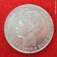 Monedas de España: MONEDA PLATA 1 PESETA 1899 ESTRELLAS VISIBLES 18 99 EBC SIN CIRCULAR ORIGINAL B34. Lote 204434490