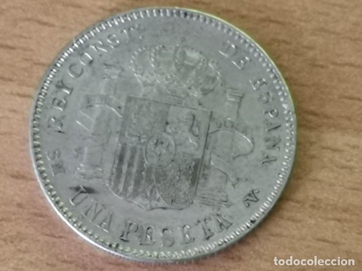 Monedas de España: MONEDA 1 PESETA PLATA .ALFONSO XIII -1900 (*19-01) MADRID SM V - EBC+ - Foto 2 - 204434668