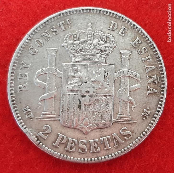 Monedas de España: MONEDA PLATA 2 PESETAS 1889 ESTRELLAS VISIBLES 18 89 MBC+ ORIGINAL B34 - Foto 2 - 204442693