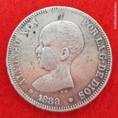 Monedas de España: MONEDA PLATA 2 PESETAS 1889 ESTRELLAS VISIBLES 18 89 MBC+ ORIGINAL B34. Lote 204442693