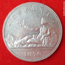 Monedas de España: MONEDA PLATA 5 PESETAS DURO DE PLATA 1870 ESTRELLAS VISIBLES 18 70 MBC++ ORIGINAL D2760A. Lote 204443112