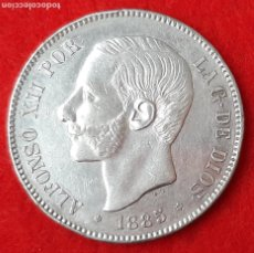 Monedas de España: MONEDA PLATA 5 PESETAS DURO DE PLATA 1885 ESTRELLAS VISIBLES 18 87 MBC++ ORIGINAL D2762A. Lote 204443481