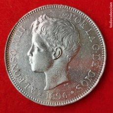 Monedas de España: MONEDA PLATA 5 PESETAS DURO DE PLATA 1896 ESTRELLAS VISIBLES 18 96 EBC ORIGINAL D2765A. Lote 204444025