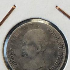 Monedas de España: 50 CENTIMOS PESETA 1889*8-9 AG ALFONSO XIII. Lote 204519102