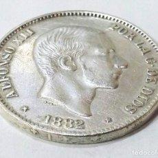 Monete da Spagna: 50 CENTAVOS PLATA ALFONSO XII 1882 MBC+ MANILA FILIPINAS,BUEN RELIEVE.. Lote 204711623
