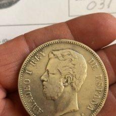 Monedas de España: AMADEO I 5 PESETAS 1871 *18 *73, RARA, PROVIENE DE SUBASTA. Lote 204719423