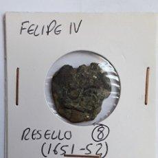 Monedas de España: FELIPE IV RESELLO A 8 MARAVEDÍS (1651-52). Lote 204724515
