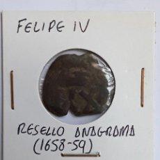 Monedas de España: FELIPE IV RESELLO DE ANAGRAMA (1658-59). Lote 204725052