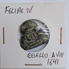 Monedas de España: FELIPE IV RESELLO A VIII 1641. Lote 204725300
